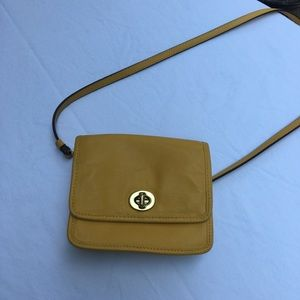 Leather Coach mini crossbody purse